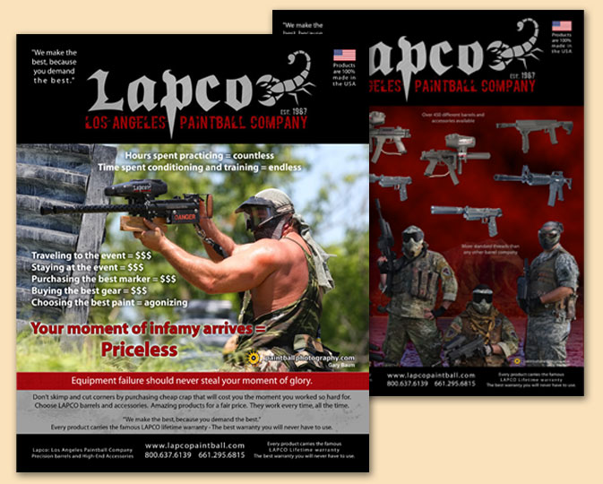 Magazine ads for LAPCO - Created ads with Photoshop and Illustrator from clients photos.
