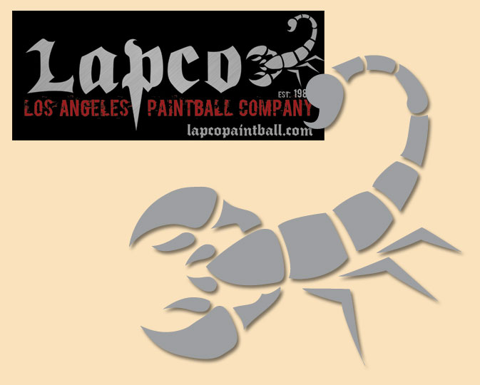 LAPCO logo - Recreated logo for LAPCO Los Angeles Paintball Company.